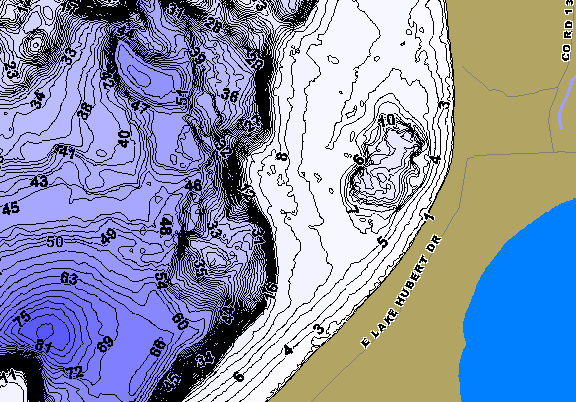 ChartSelect's contour preview for Hubert LakeMaster HD Contour