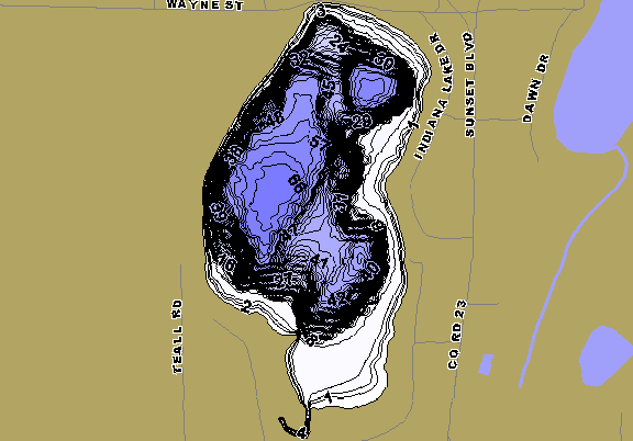 ChartSelect's contour preview for Indiana LakeMaster HD Contour