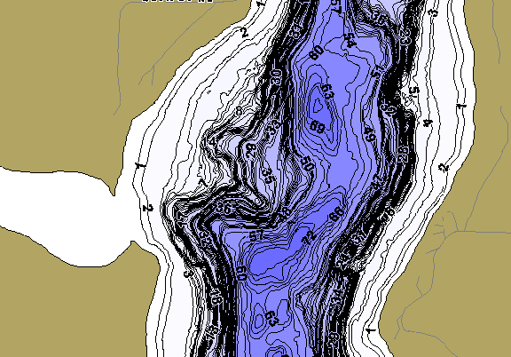 ChartSelect's contour preview for Inguadona LakeMaster HD Contour