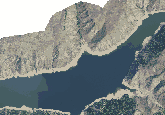 ChartSelect's contour preview for Anderson Ranch LakeMaster Layer