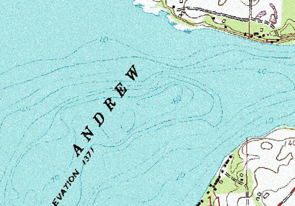ChartSelect's contour preview for Andrews LakeMaster Layer