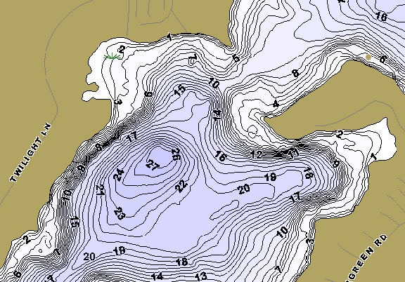 ChartSelect's contour preview for Island LakeMaster HD Contour