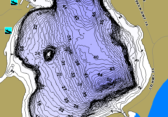 ChartSelect's contour preview for Andrusia LakeMaster HD Contour