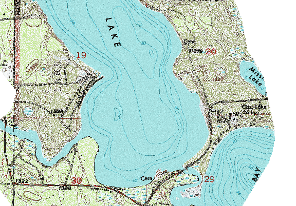 ChartSelect's contour preview for Andrusia LakeMaster Layer
