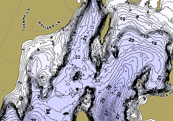 ChartSelect's contour preview for Annabessacook LakeMaster HD Contour