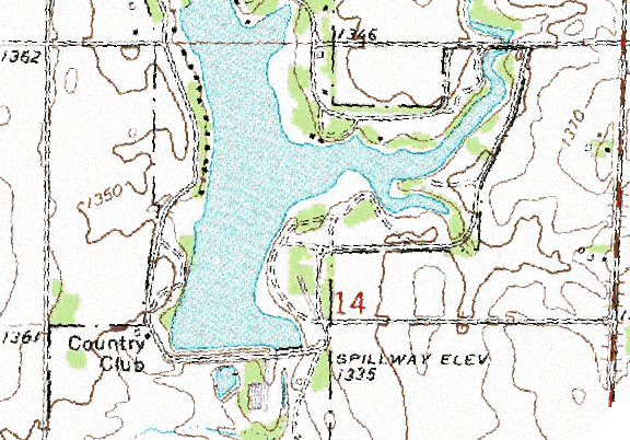 ChartSelect's contour preview for Anthony City LakeMaster Layer