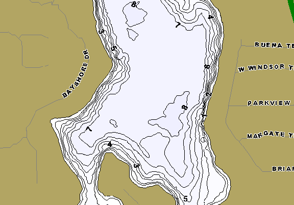 ChartSelect's contour preview for Antioch LakeMaster HD Contour