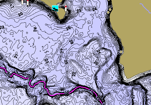 ChartSelect's contour preview for Lake Of The Pines LakeMaster HD Contour