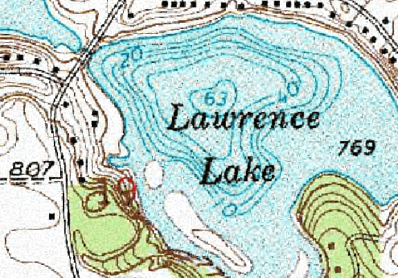 ChartSelect's contour preview for Lawrence LakeMaster Layer