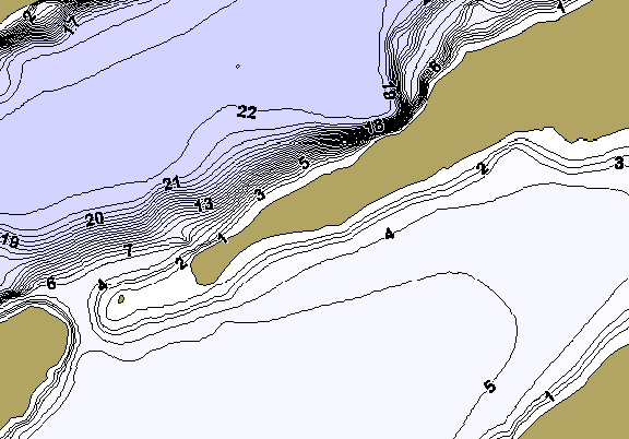 ChartSelect's contour preview for Lesage LakeMaster HD Contour