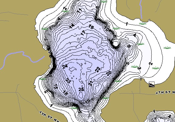 ChartSelect's contour preview for Lind LakeMaster HD Contour