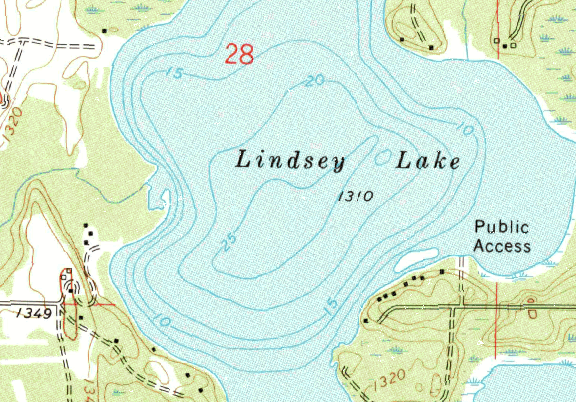 ChartSelect's contour preview for Lind LakeMaster Layer