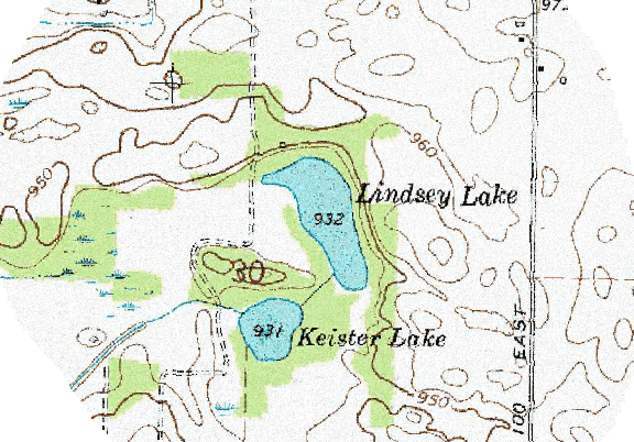 ChartSelect's contour preview for Lindsey LakeMaster Layer