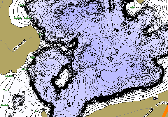 ChartSelect's contour preview for Little Pine LakeMaster HD Contour