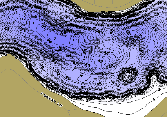 ChartSelect's contour preview for Little Swan LakeMaster HD Contour