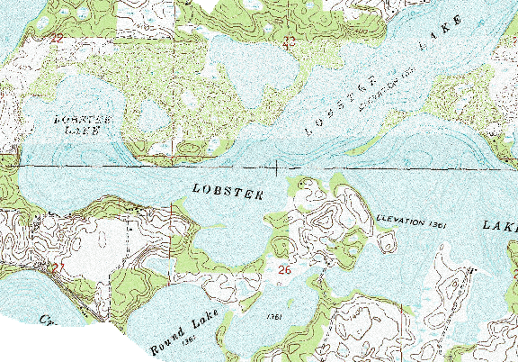 ChartSelect's contour preview for Lobster LakeMaster Layer