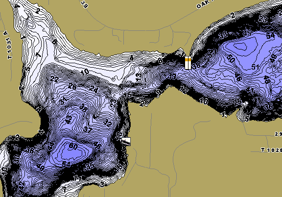 ChartSelect's contour preview for Lone LakeMaster HD Contour