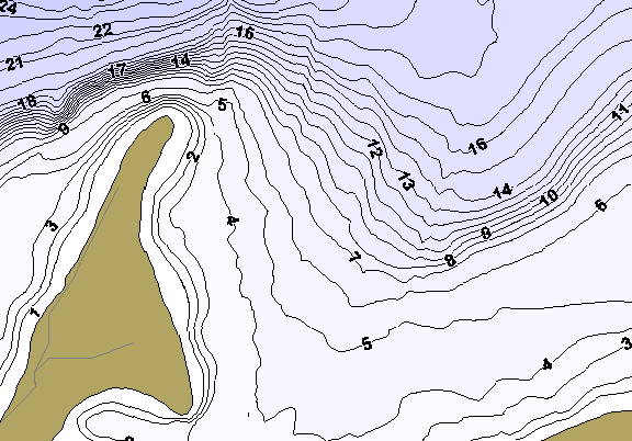 ChartSelect's contour preview for Long LakeMaster HD Contour