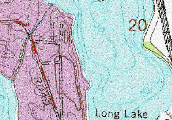 ChartSelect's contour preview for Long LakeMaster Layer