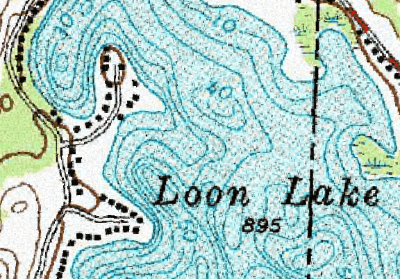 ChartSelect's contour preview for Loon LakeMaster Layer