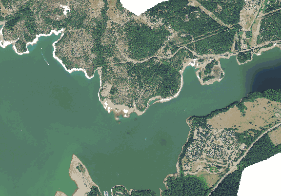 ChartSelect's contour preview for Lost Creek LakeMaster Layer