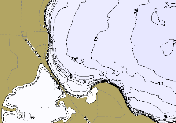 ChartSelect's contour preview for Lost Island LakeMaster HD Contour