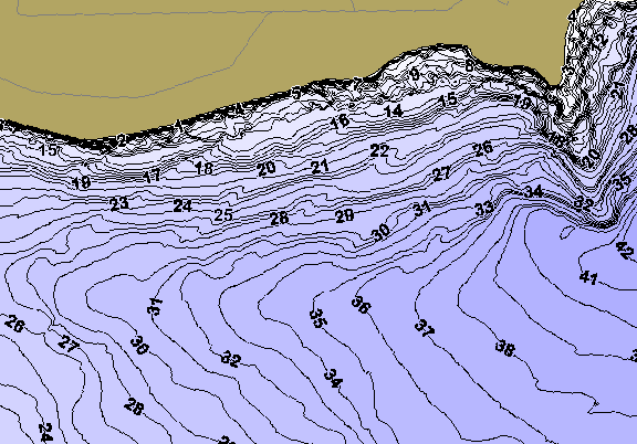 ChartSelect's contour preview for Lowell LakeMaster HD Contour