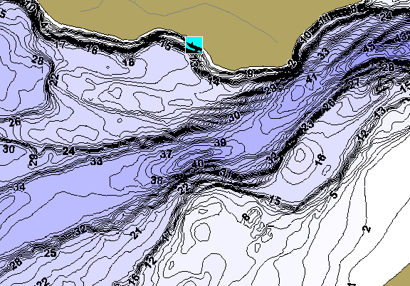 ChartSelect's contour preview for Arbutus LakeMaster HD Contour