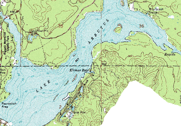 ChartSelect's contour preview for Arbutus LakeMaster Layer
