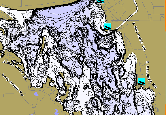 ChartSelect's contour preview for Maloney LakeMaster HD Contour