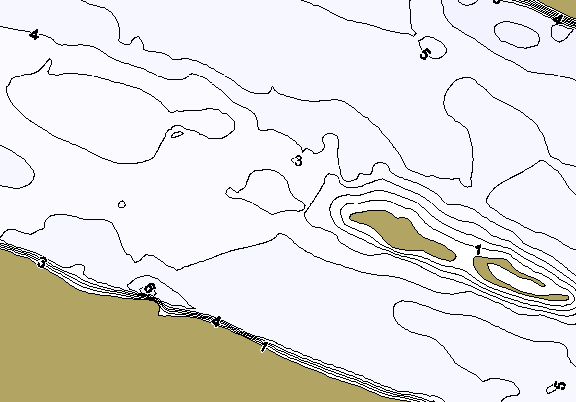 ChartSelect's contour preview for Marble Falls LakeMaster HD Contour