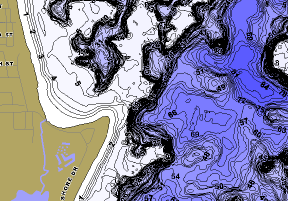 ChartSelect's contour preview for Maxinkuckee LakeMaster HD Contour