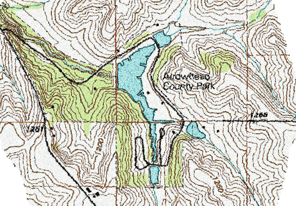 ChartSelect's contour preview for Arrowhead LakeMaster Layer