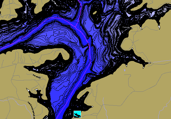 ChartSelect's contour preview for Medina LakeMaster HD Contour