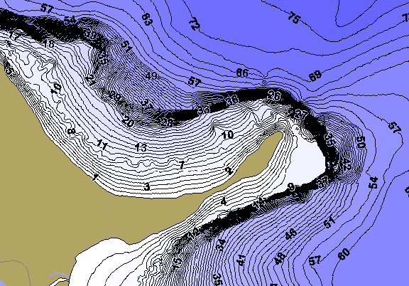 ChartSelect's contour preview for Mendota LakeMaster HD Contour