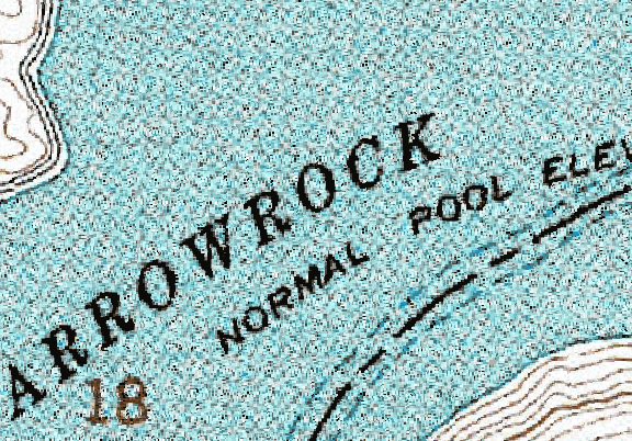 ChartSelect's contour preview for Arrowrock LakeMaster Layer