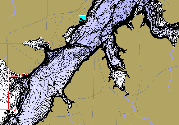 ChartSelect's contour preview for Millers Creek Reservoir LakeMaster HD Contour