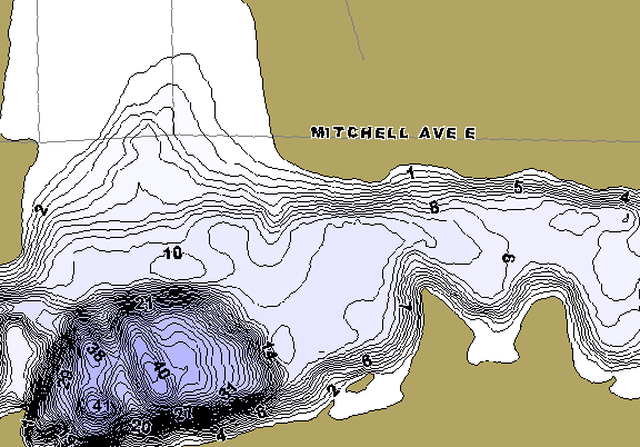 ChartSelect's contour preview for Mitchell LakeMaster HD Contour