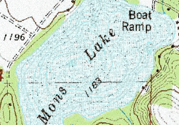 ChartSelect's contour preview for Mons LakeMaster Layer