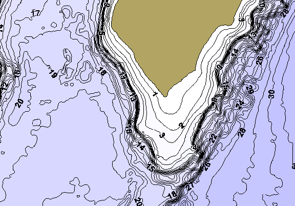 ChartSelect's contour preview for Nokay LakeMaster HD Contour