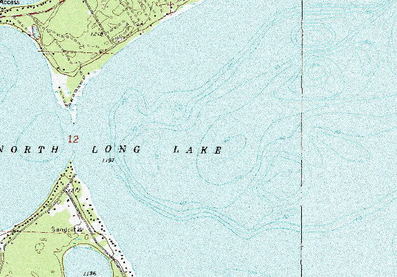 ChartSelect's contour preview for North Long LakeMaster Layer