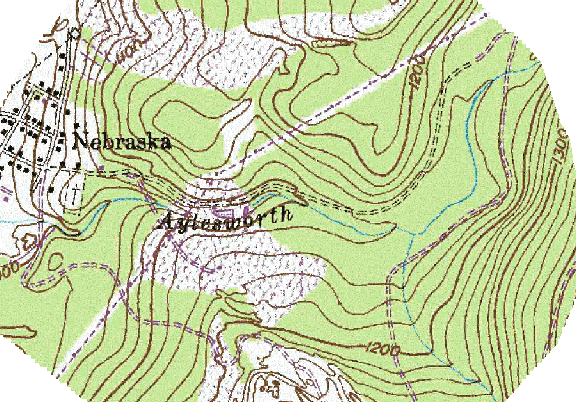 ChartSelect's contour preview for Aylesworth Creek LakeMaster Layer