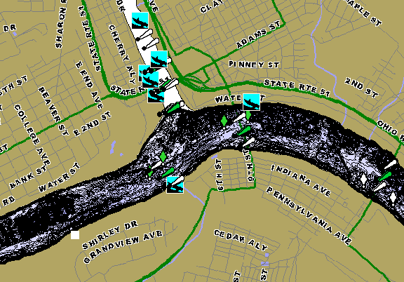 ChartSelect's contour preview for Ohio River - Montgomery Pool LakeMaster HD Contour