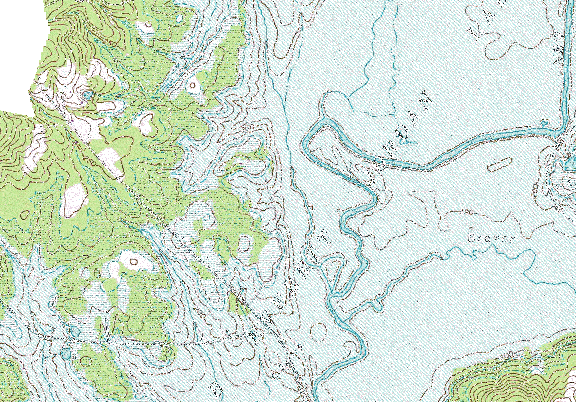 ChartSelect's contour preview for B Everett Jordan LakeMaster Layer