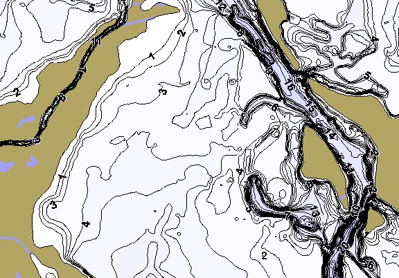 ChartSelect's contour preview for BA Steinhagen LakeMaster HD Contour