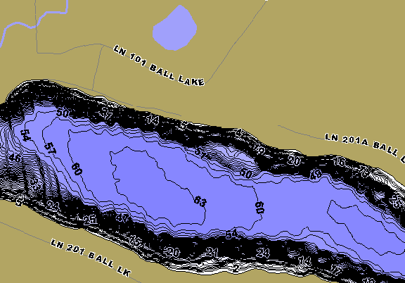 ChartSelect's contour preview for Ball LakeMaster HD Contour