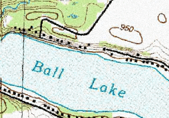 ChartSelect's contour preview for Ball LakeMaster Layer