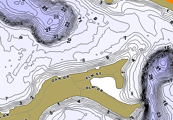 ChartSelect's contour preview for Pine LakeMaster HD Contour