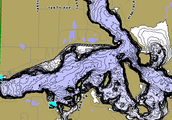 ChartSelect's contour preview for Balsam LakeMaster HD Contour
