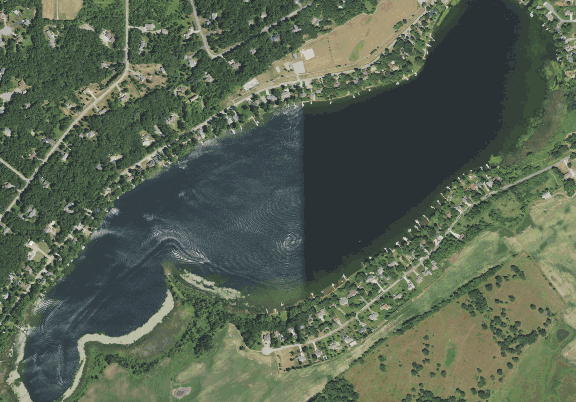 ChartSelect's contour preview for Pleasant LakeMaster Layer